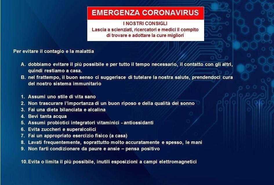 Coronavirus - consigli