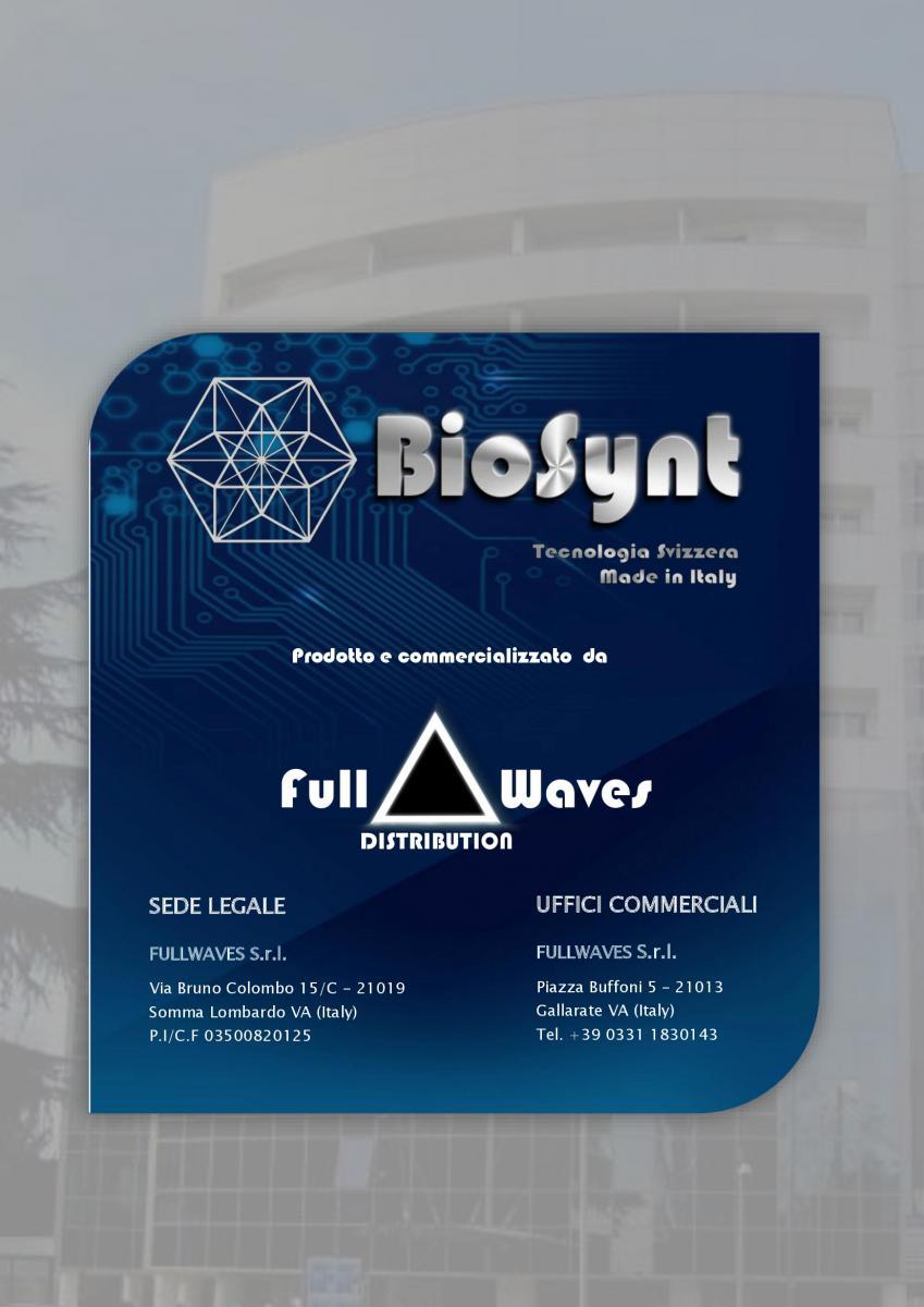 BioSynt è prodotto in Italia, su licenza in esclusiva, daFULL WAVES SRL